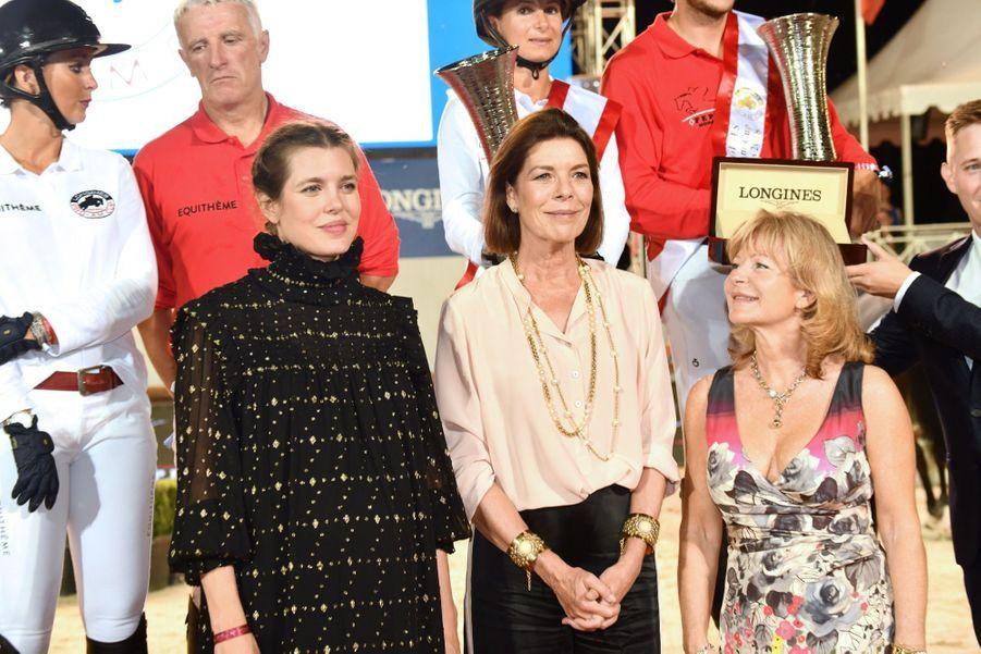 La Princesse Caroline Et Sa Fille Charlotte Casiraghi Lors De La 13ème Édition Du Jumping International De Monte Carlo ( 16
