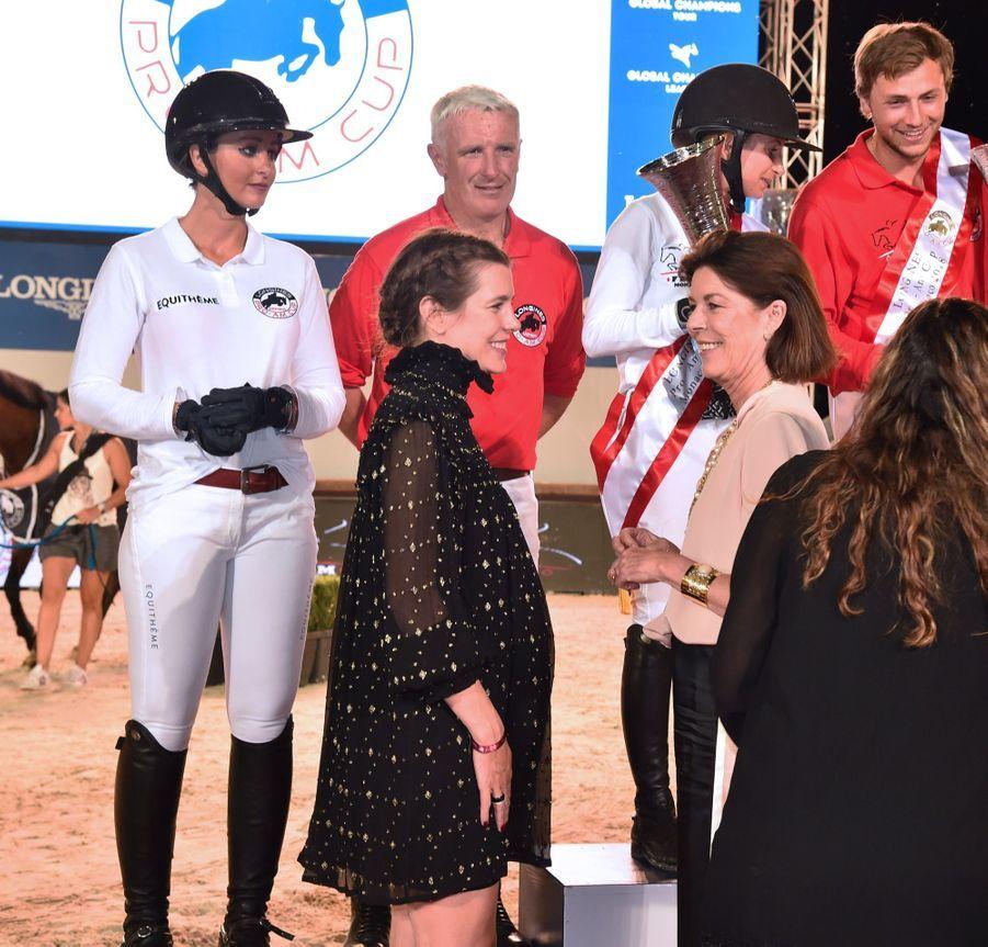La Princesse Caroline Et Sa Fille Charlotte Casiraghi Lors De La 13ème Édition Du Jumping International De Monte Carlo ( 3