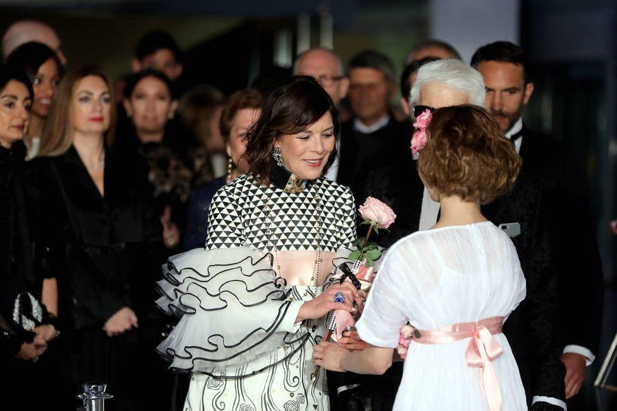 Caroline de Monaco au Bal de la Rose, le 18 mars 2017.