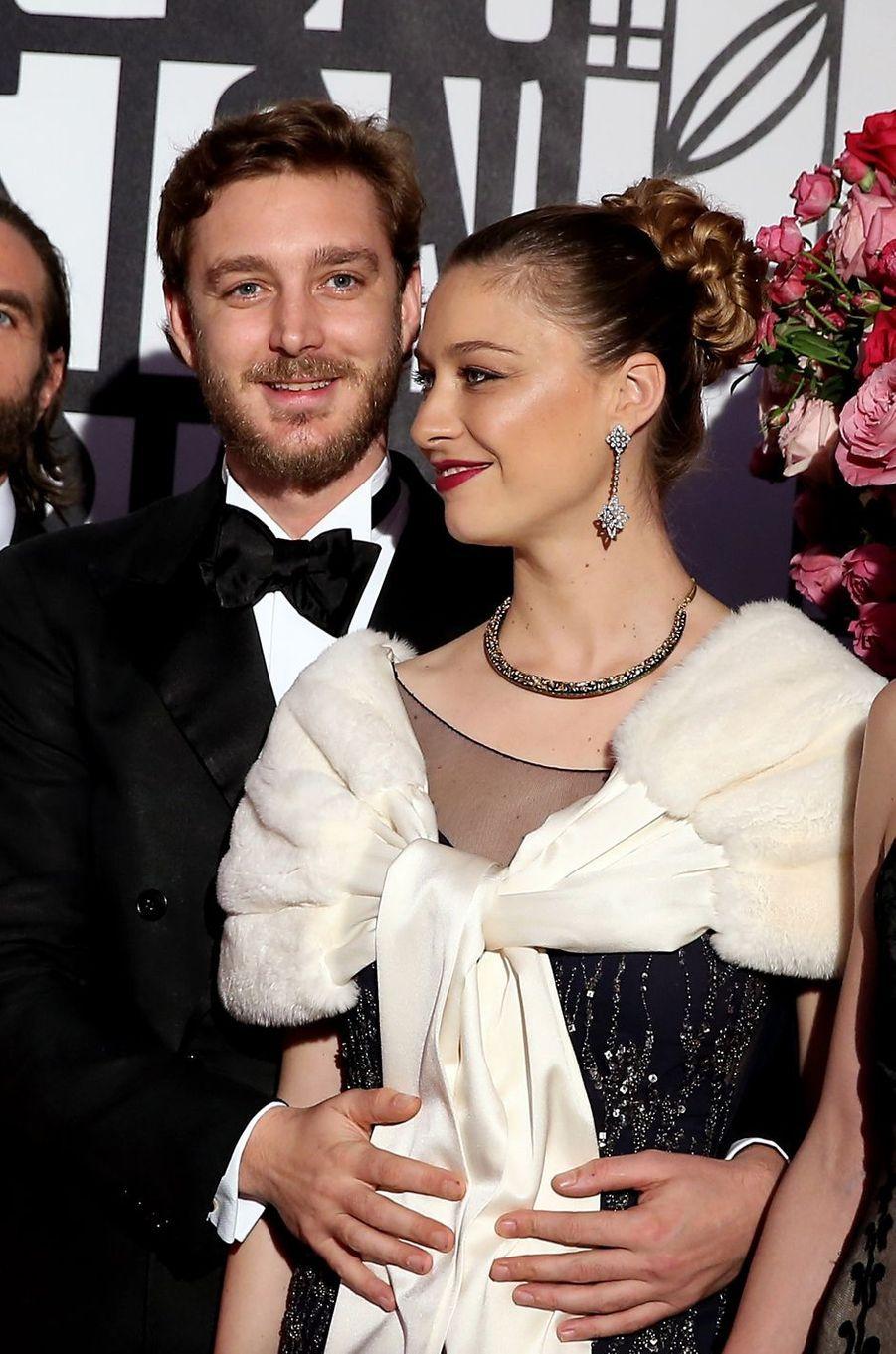 Pierre Casiraghi etBeatrice Borromeoau Bal de la Rose, le 18 mars 2017.