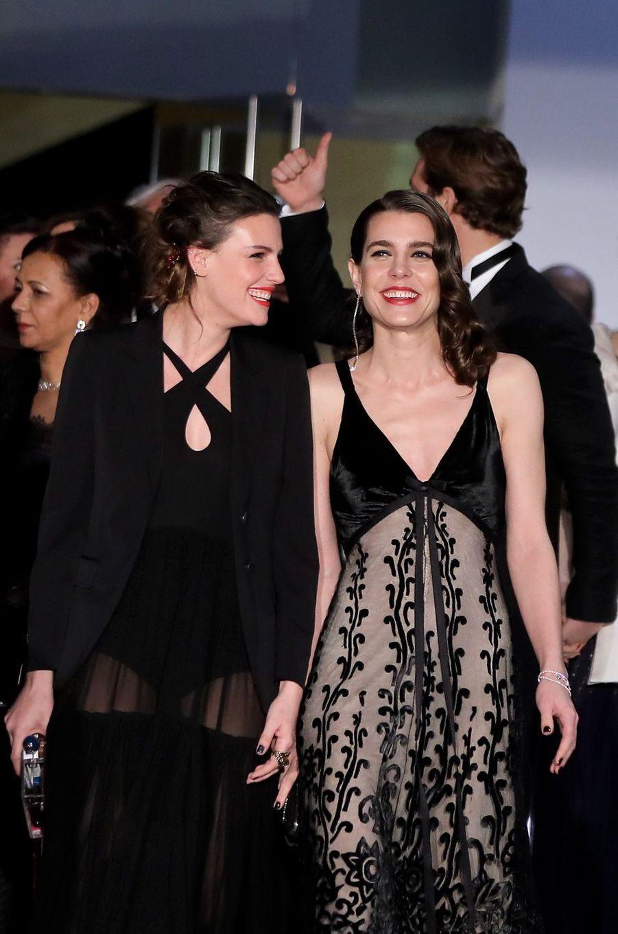 Juliette Maillot et Charlotte Casiraghi au Bal de la Rose, le 18 mars 2017.