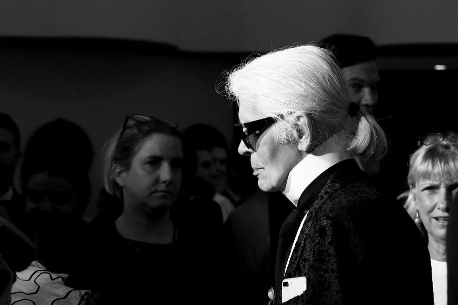 Karl Lagerfeld au Bal de la Rose, le 18 mars 2017.