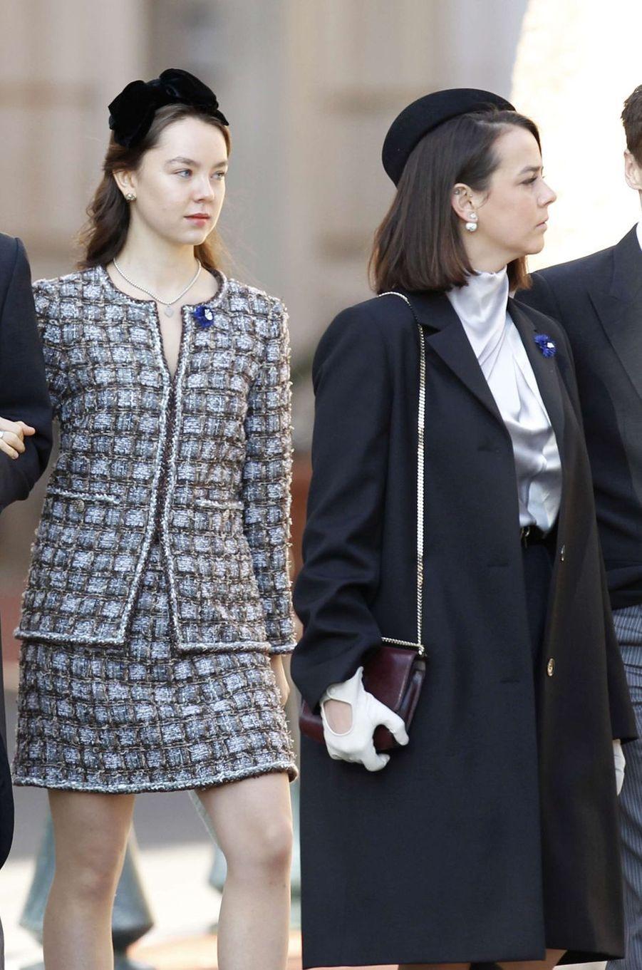 La princesse Alexandra de Hanovre et Pauline Ducruet à Monaco, le 19 novembre 2018