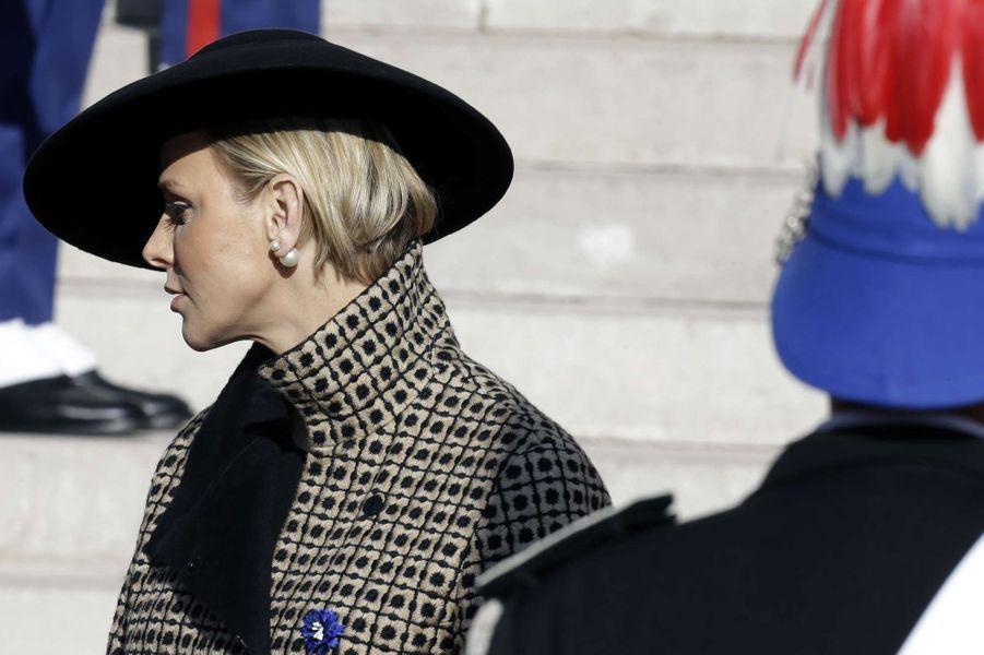 La princesse Charlène de Monaco, le 19 novembre 2018 à Monaco