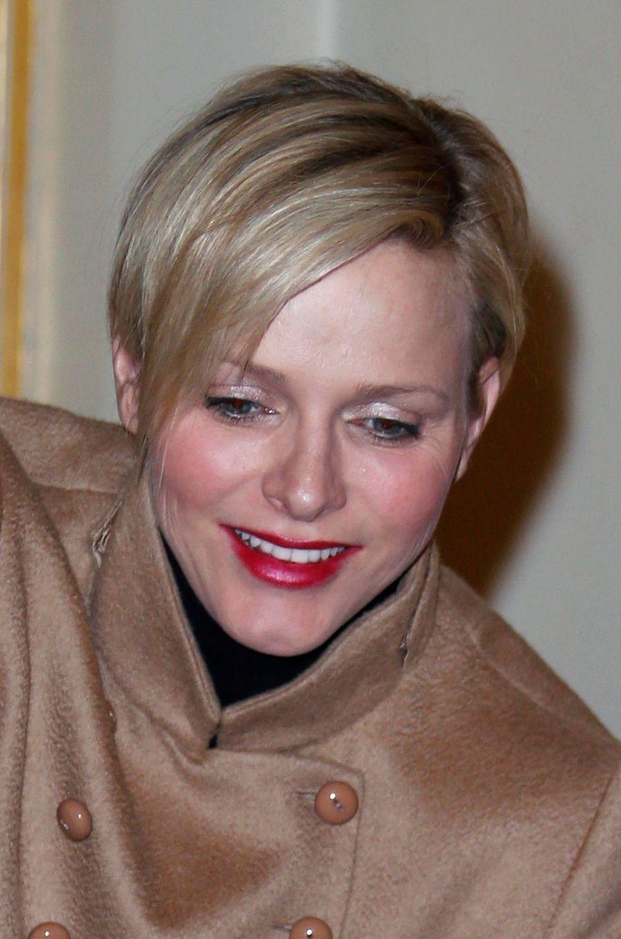 La princesse Charlène de Monaco, le 12 décembre 2012