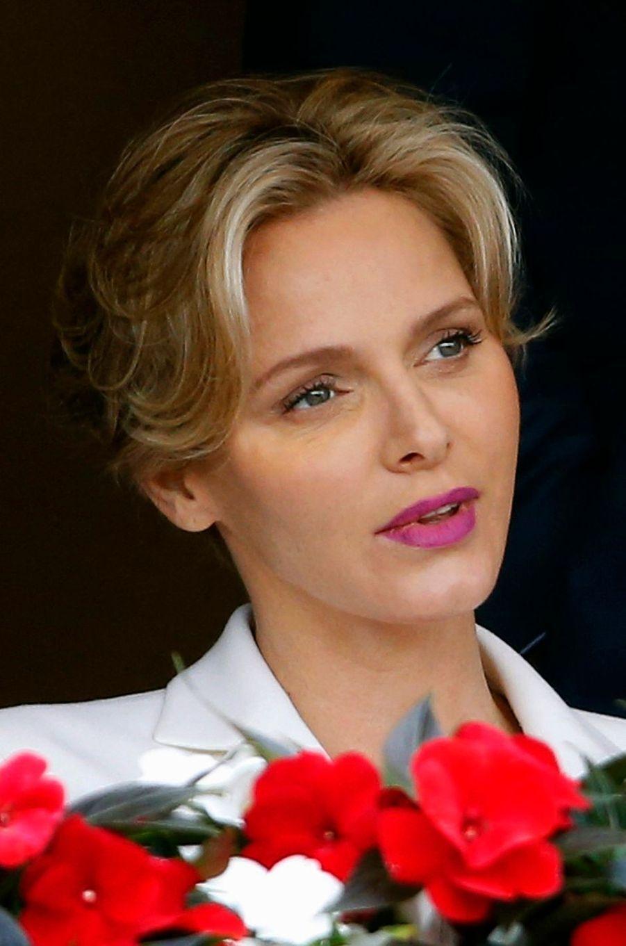 La princesse Charlène de Monaco, le 20 avril 2014