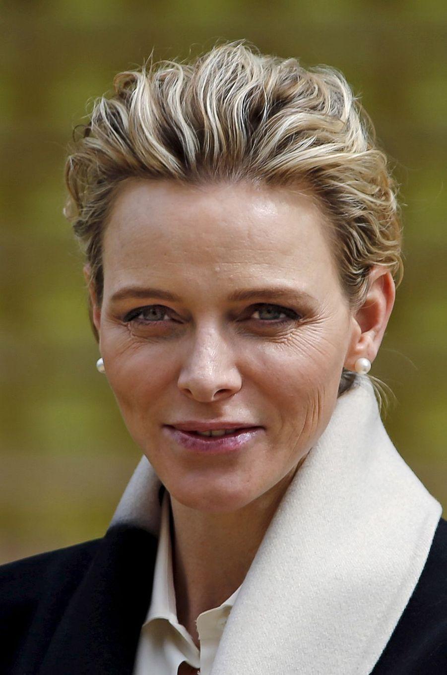 La princesse Charlène de Monaco, le11 avril 2015