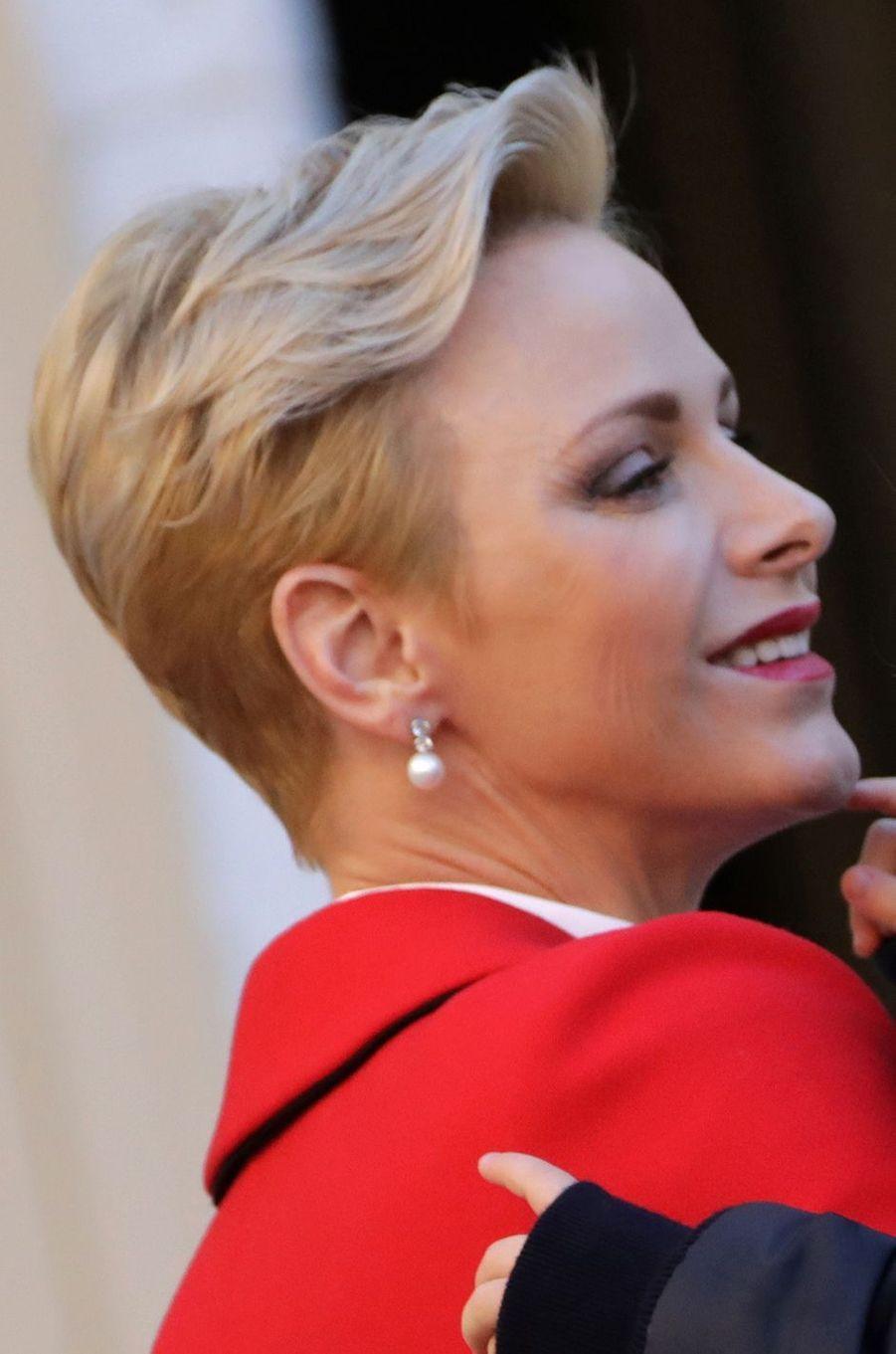 La princesse Charlène de Monaco, le 14 décembre 2016