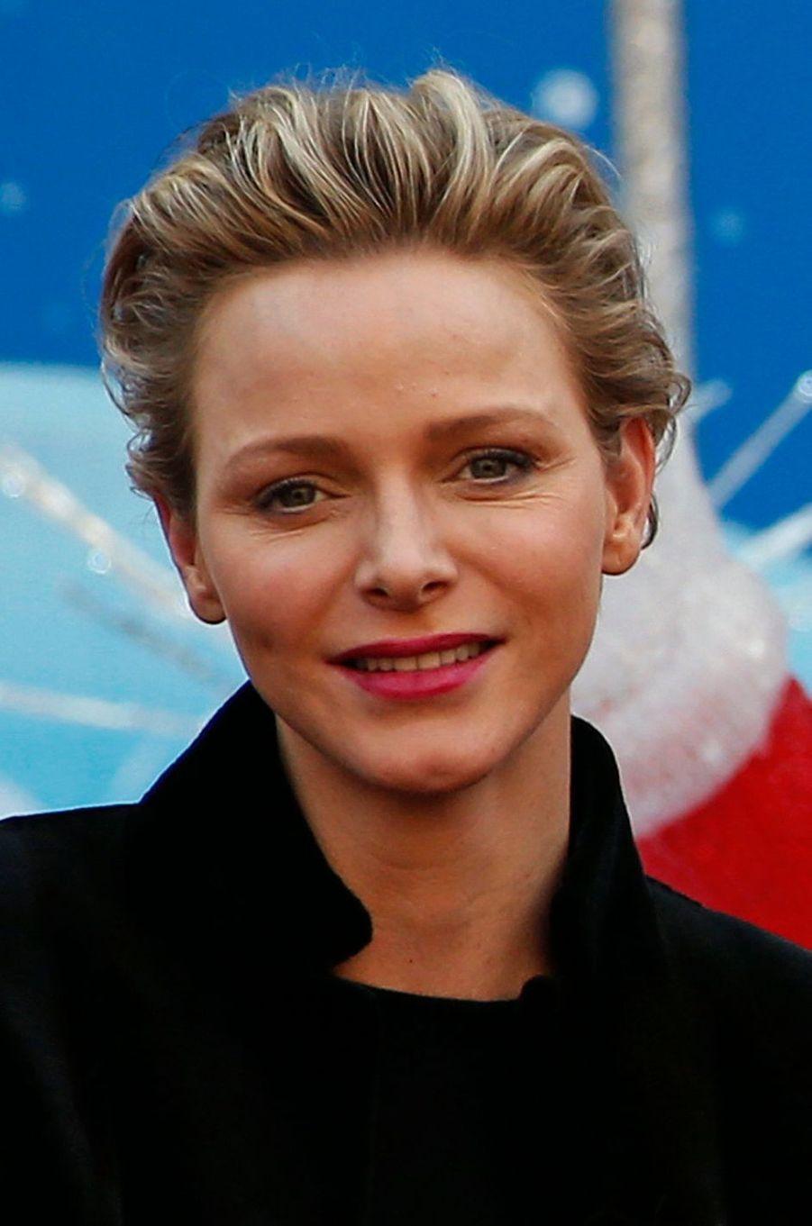 La princesse Charlène de Monaco, le 18 décembre 2013