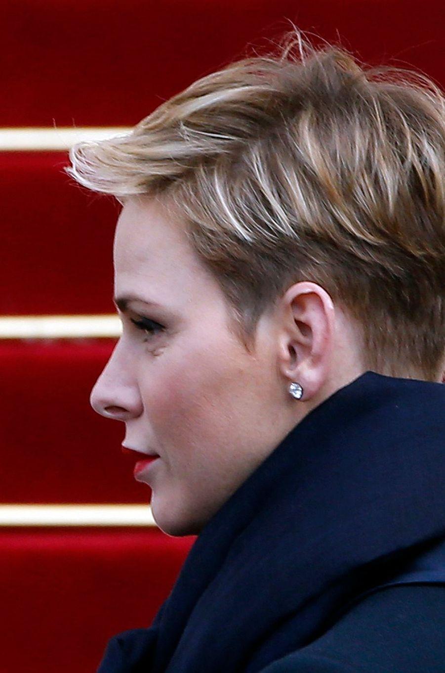 La princesse Charlène de Monaco, le 27 janvier 2016