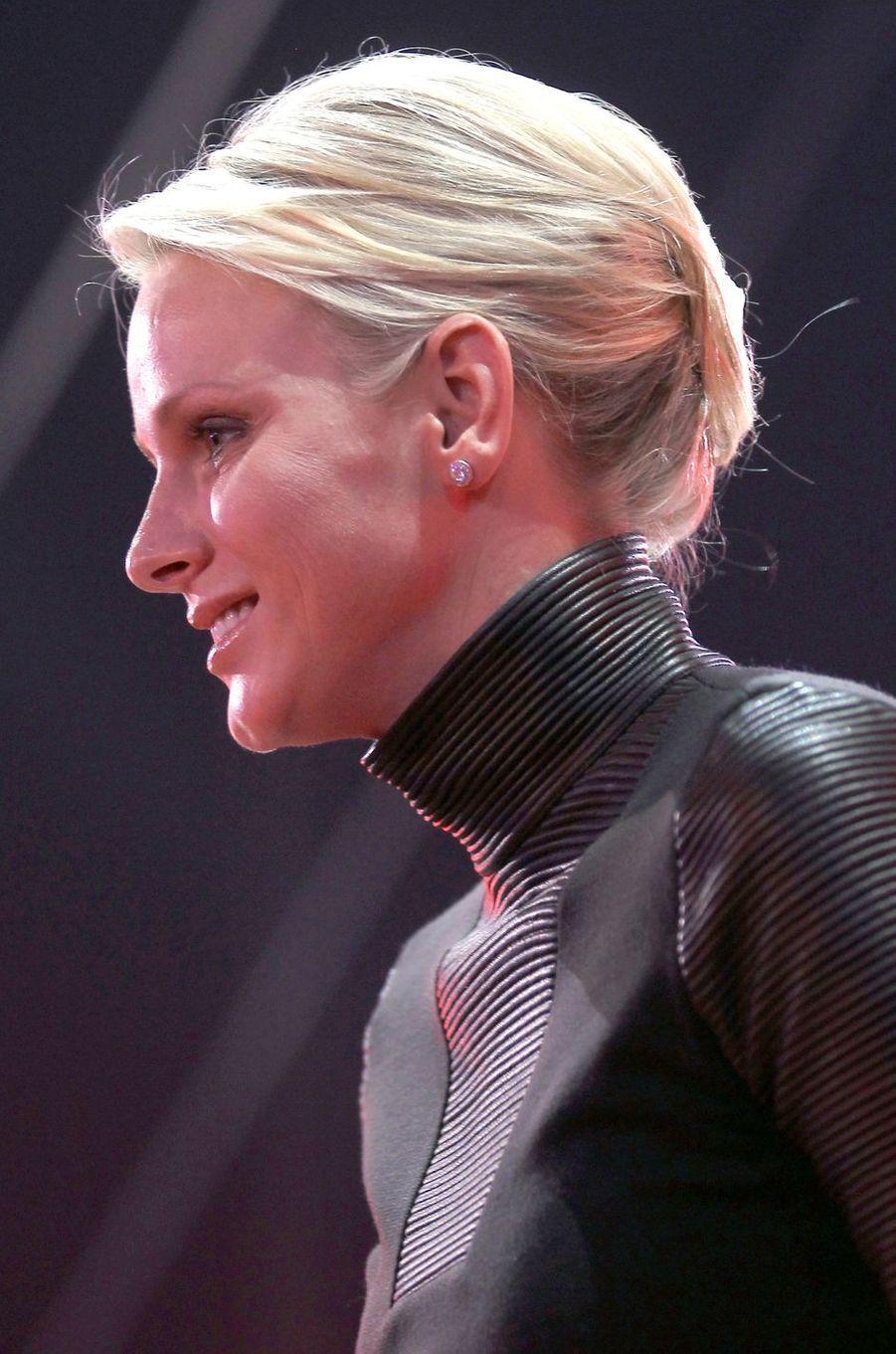 La princesse Charlène de Monaco, le 24 janvier 2012