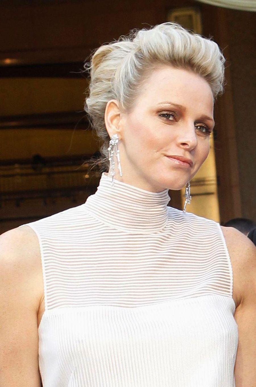 La princesse Charlène de Monaco, le 26 février 2012