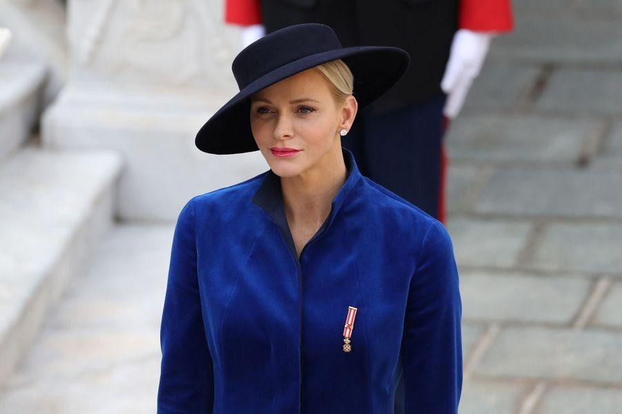 La princesse Charlène de Monaco à Monaco, le 19 novembre 2017