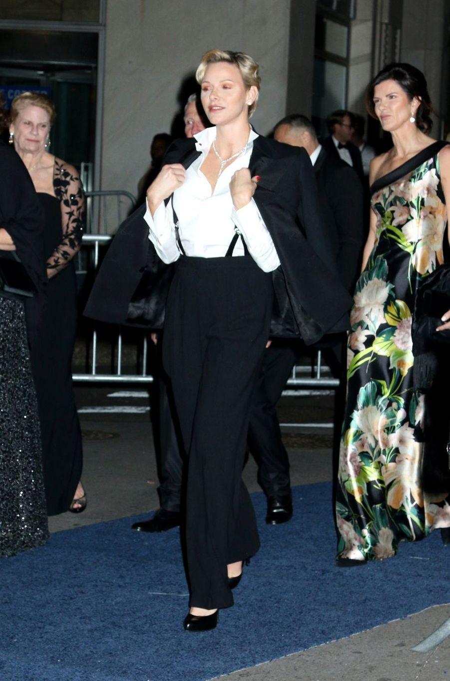 La princesse Charlène de Monaco à New York pour le Princess Grace Awards Gala, le 16 octobre 2018