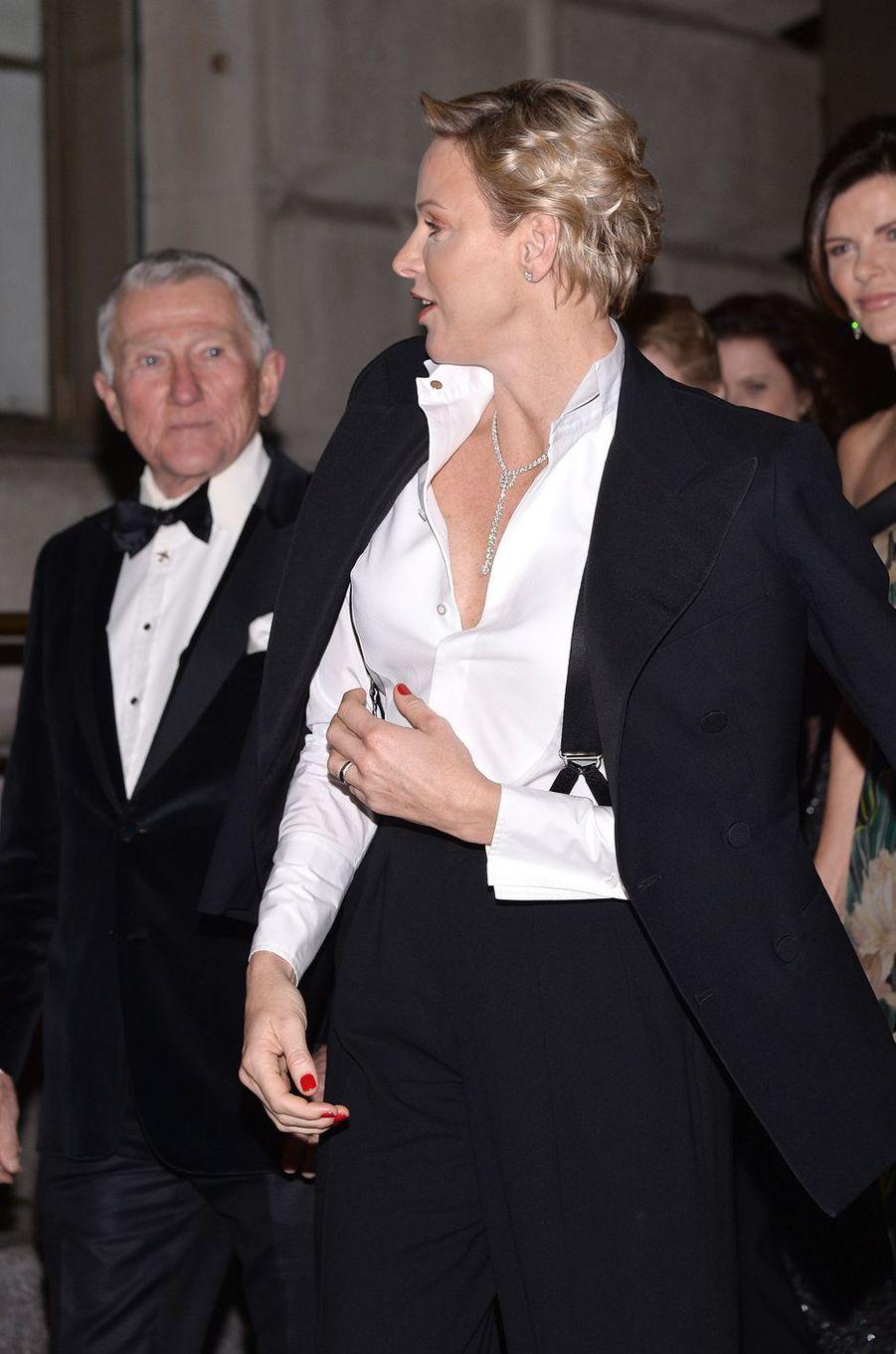 La princesse Charlène de Monaco à New York, le 16 octobre 2018