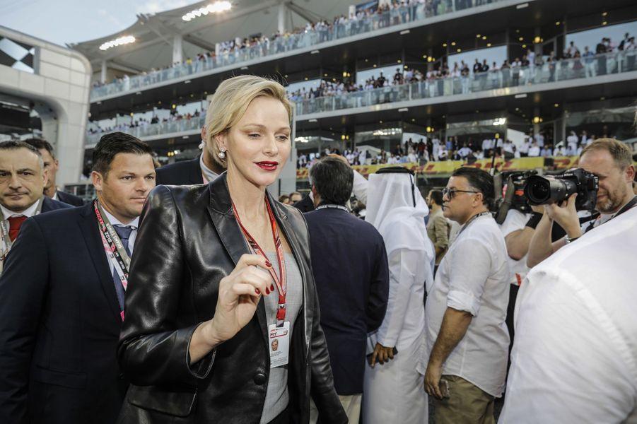 La princesse Charlène de Monaco à Abu Dhabi, le 25 novembre 2018