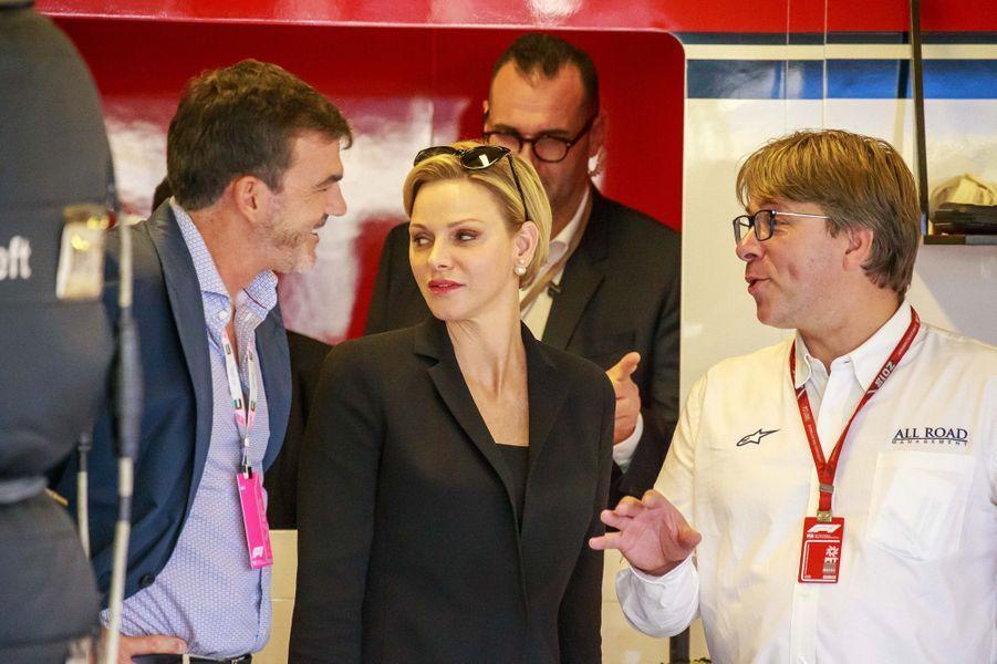 La princesse Charlène de Monaco à Abu Dhabi, le 24 novembre 2018