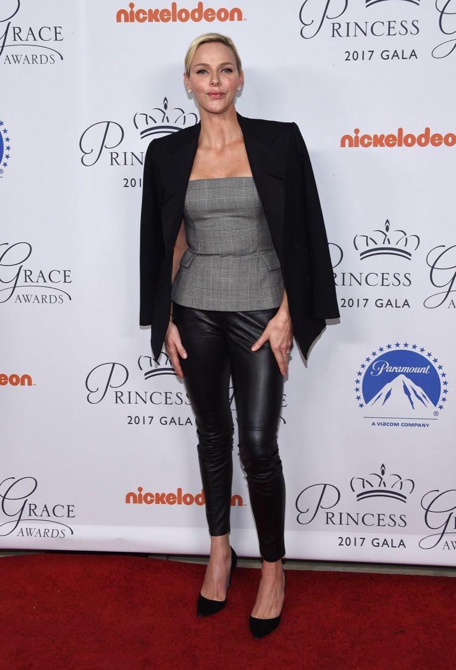 La Princesse Charlene De Monaco À La Soirée Princess Grace Awards Au Paramount Studios À Los Angeles, Le 24 Octobre 2017 1
