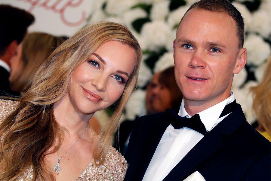 Christopher Froome et son épouse.