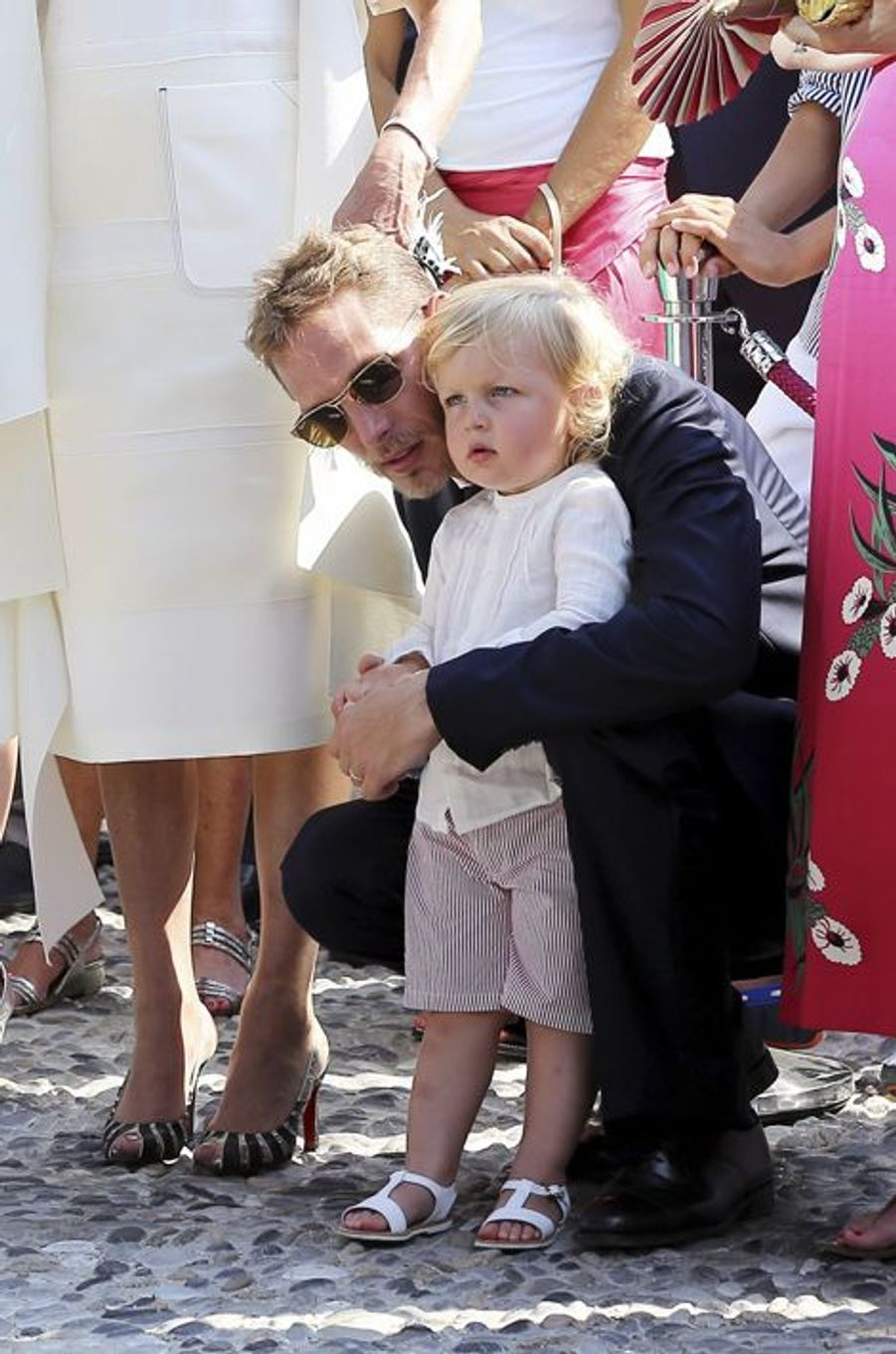 Andrea Casiraghi et son fils Sacha