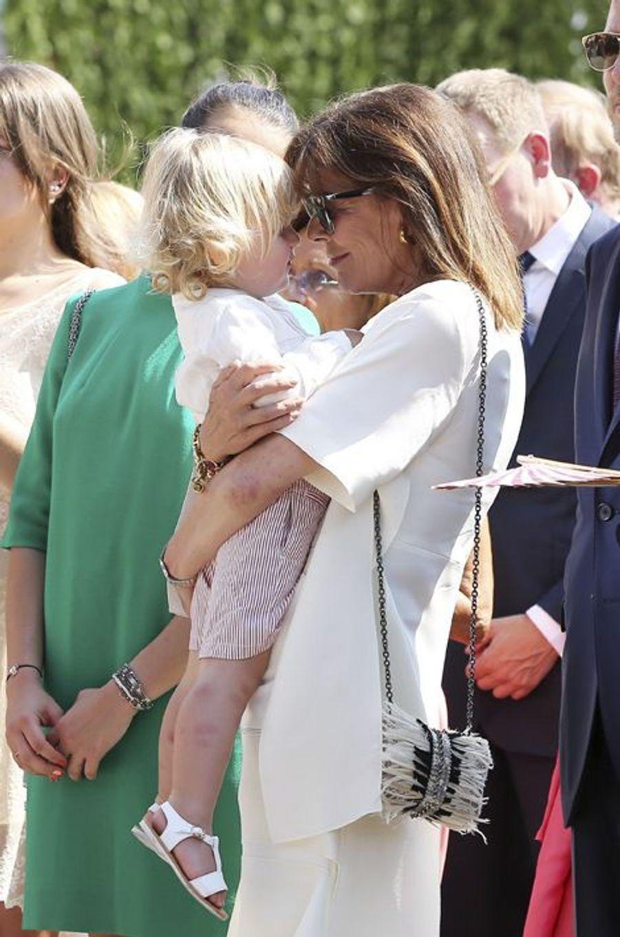 La princesse Caroline de Monaco et son petit-fils Sacha Casiraghi