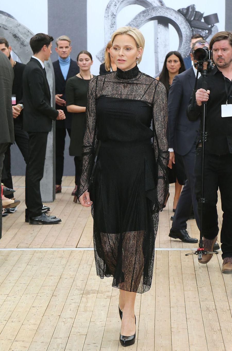 La princesse Charlène de Monaco à Paris, le 30 septembre 2018