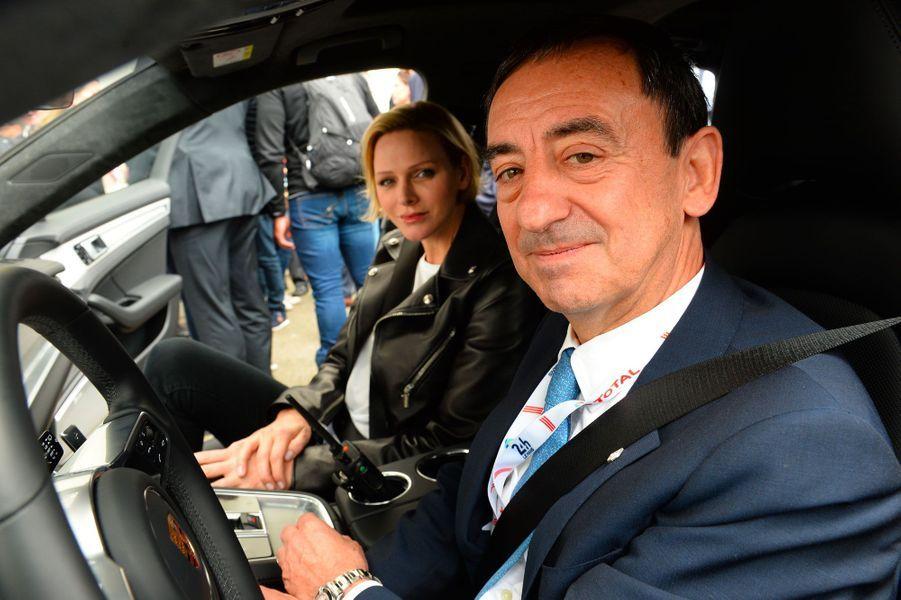 Charlène de Monaco et Pierre Fillon, samedi au Mans.