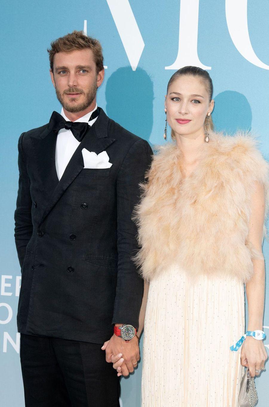 Pierre Casiraghi et sa femme Beatrice Borromeo à Monaco, le 26 septembre 2018