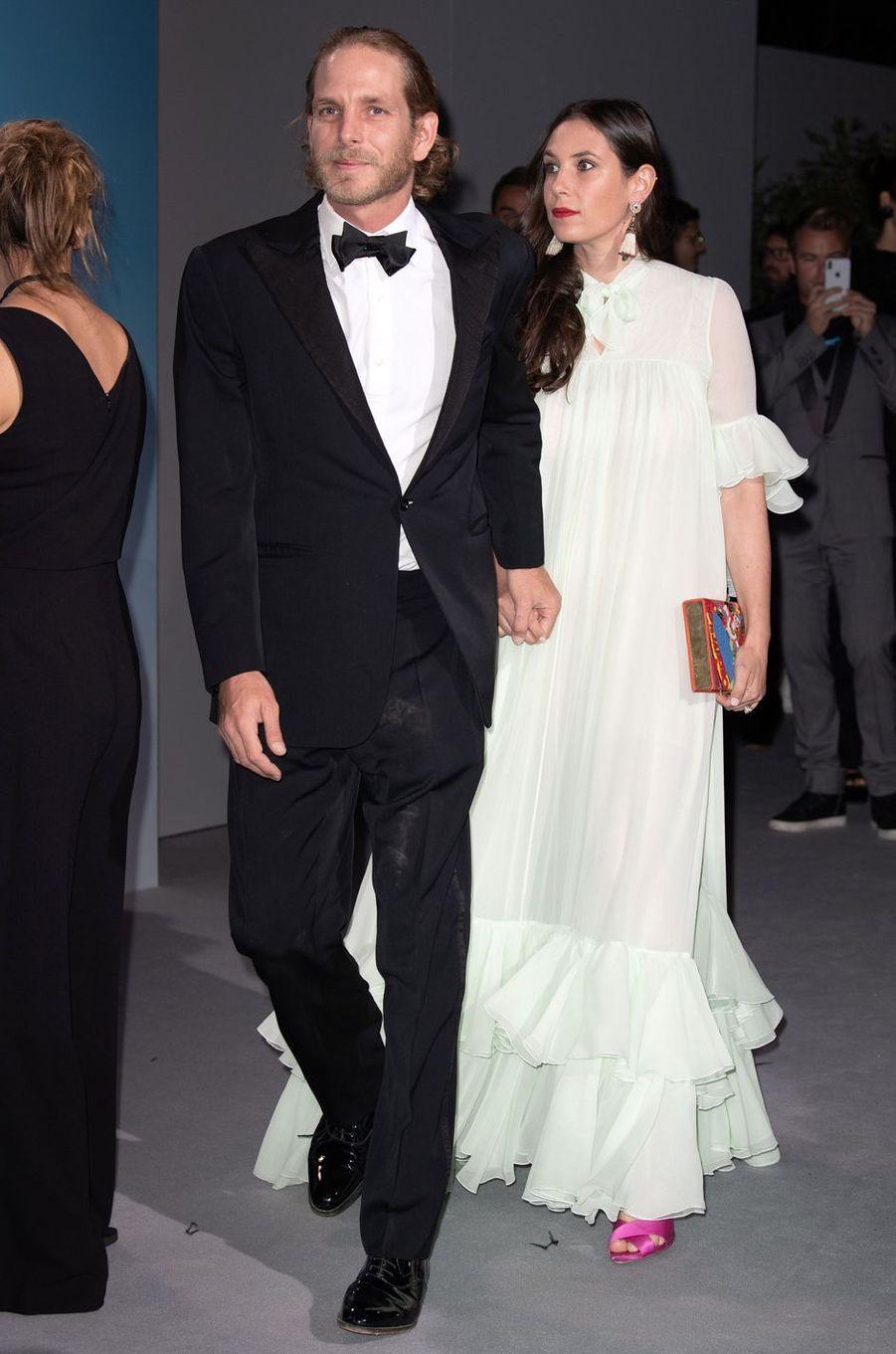 Andrea Casiraghi et sa femme Tatiana Santo Domingo à Monaco, le 26 septembre 2018