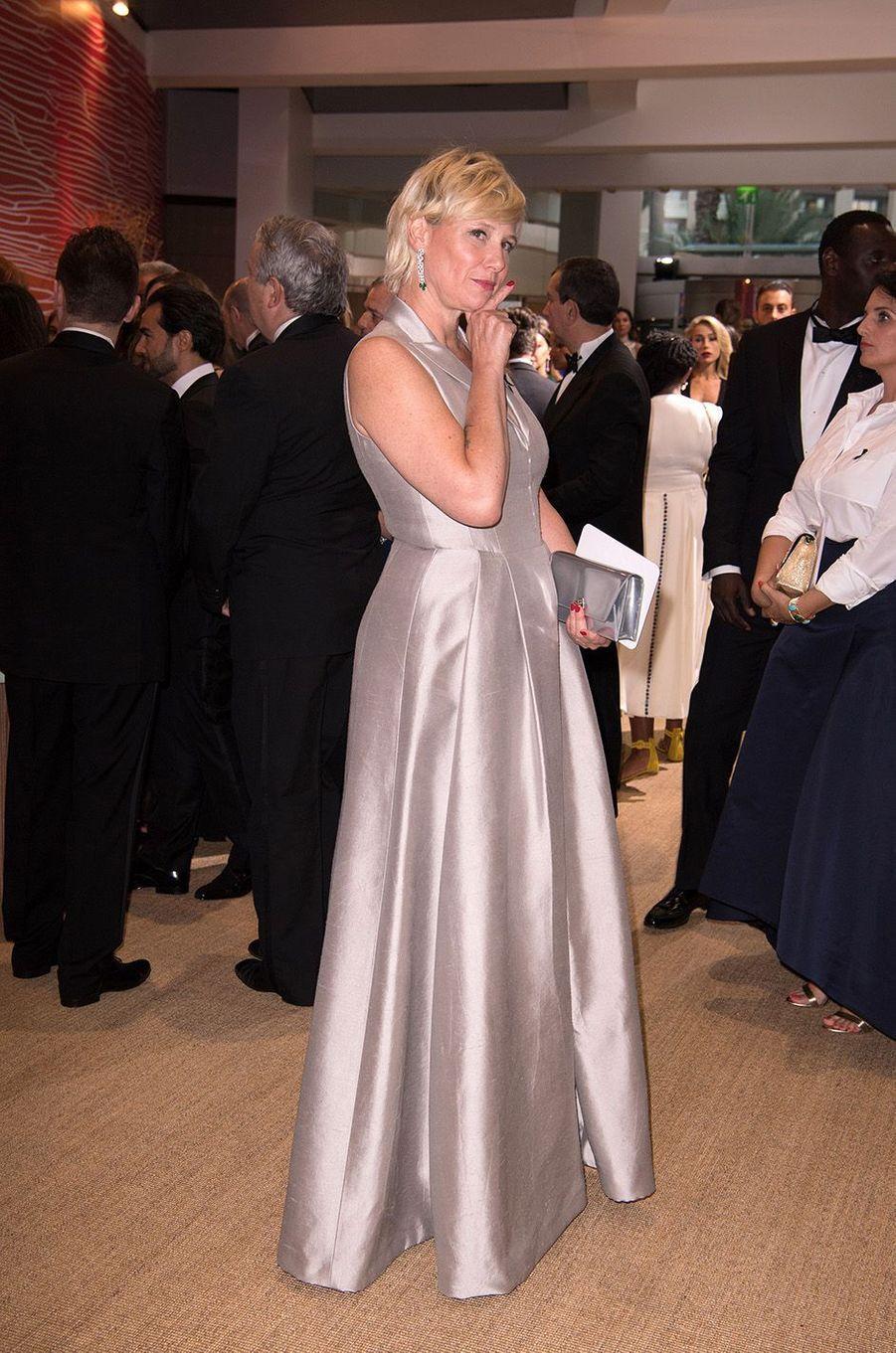 Maïtena Biraben, au 68e gala de la Croix-Rouge à Monaco, le 23 juillet 2016.
