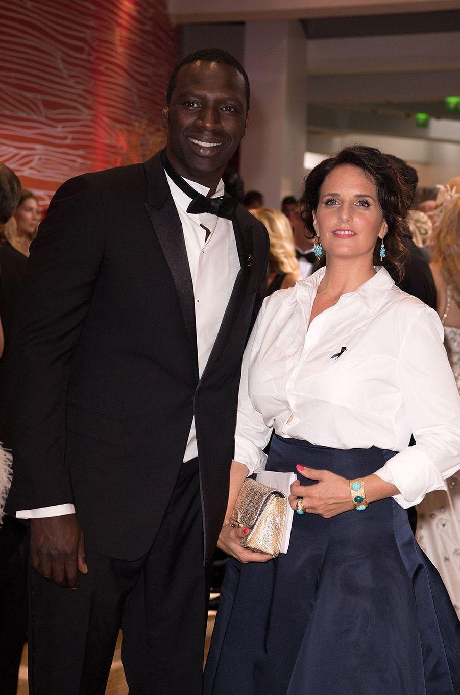 Omar et Hélène Sy, au 68e gala de la Croix-Rouge à Monaco, le 23 juillet 2016.