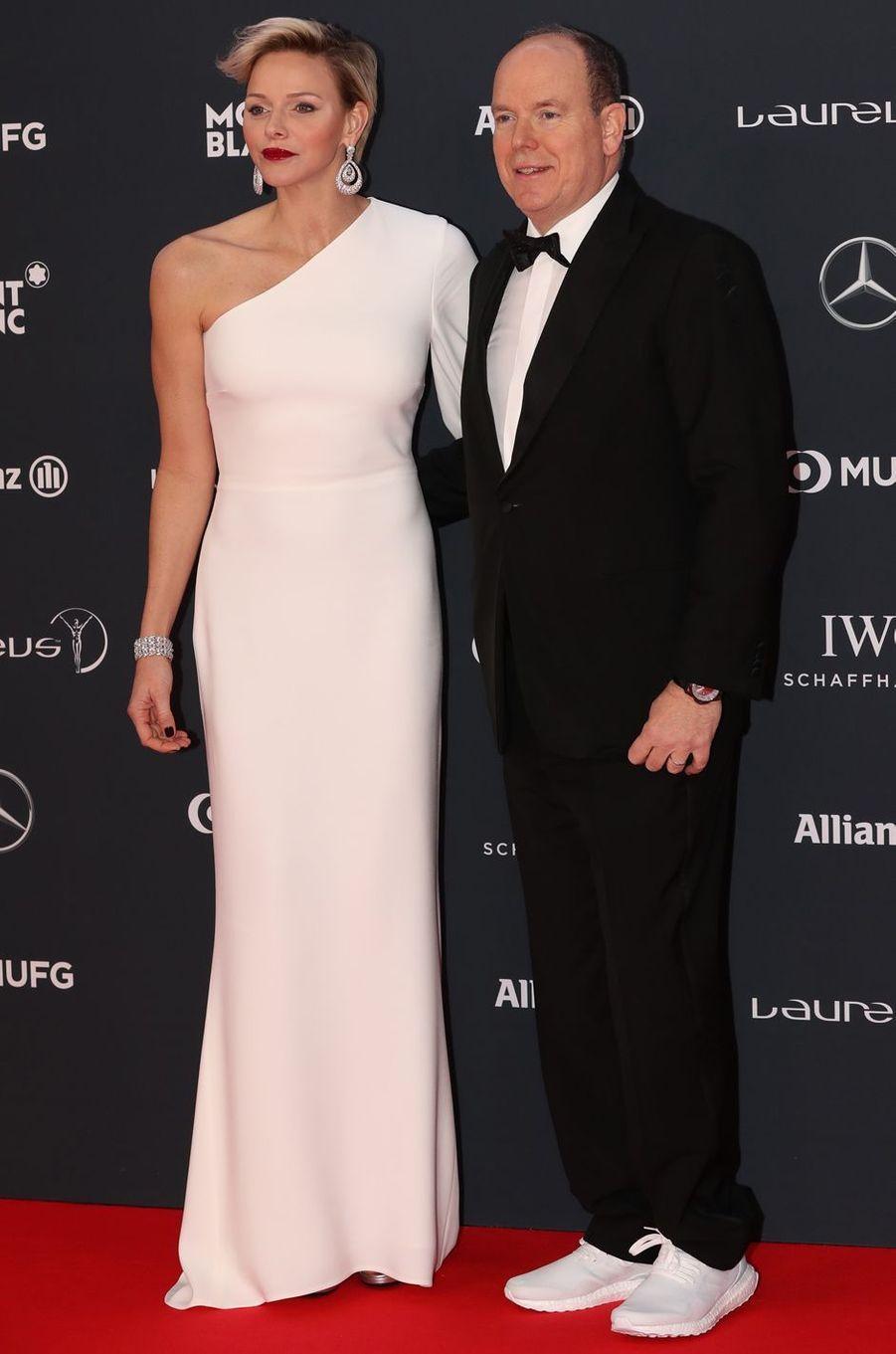 La princesse Charlène de Monaco le 22 février 2018