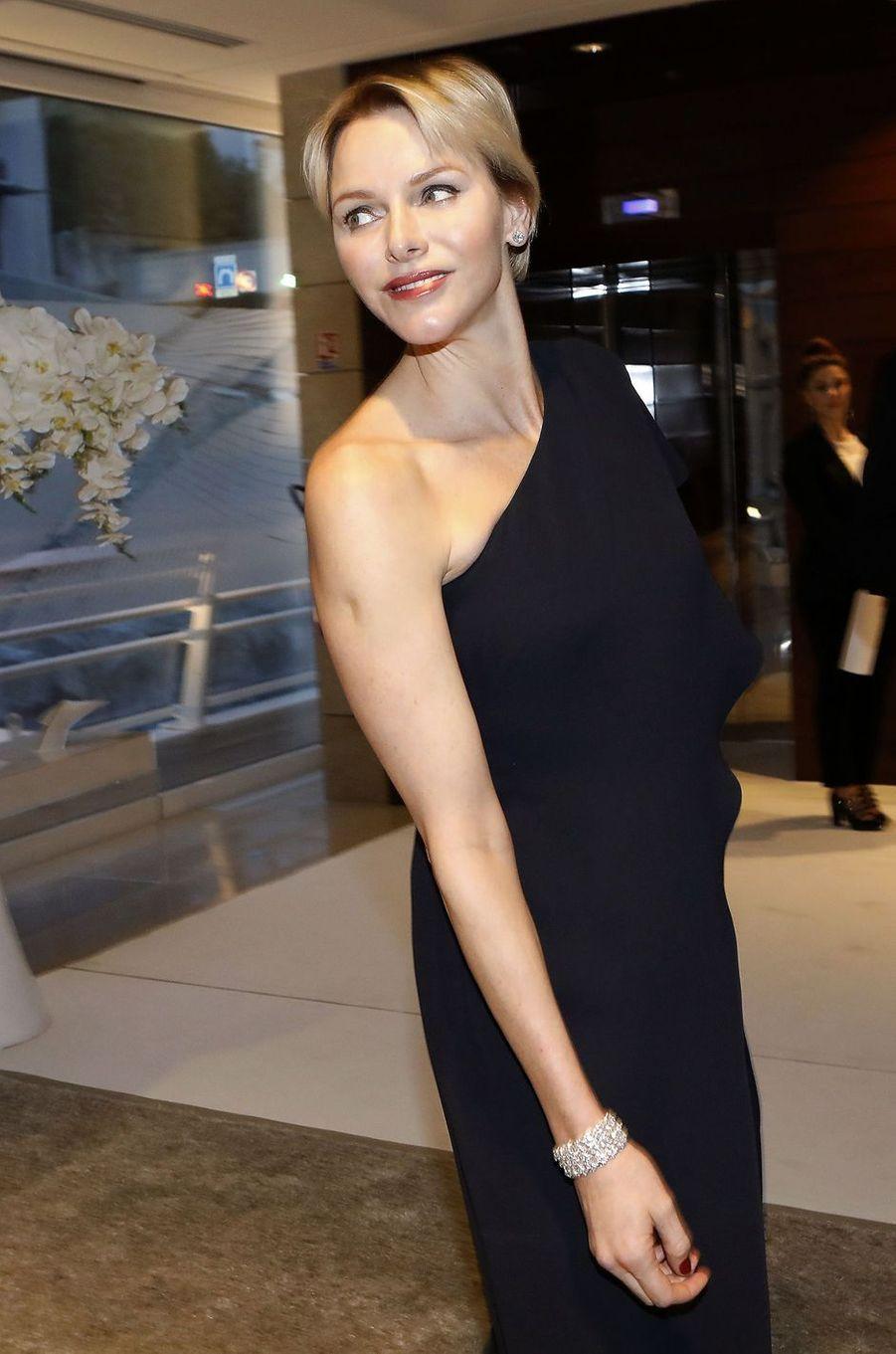 La princesse Charlène de Monaco, le 14 avril 2018