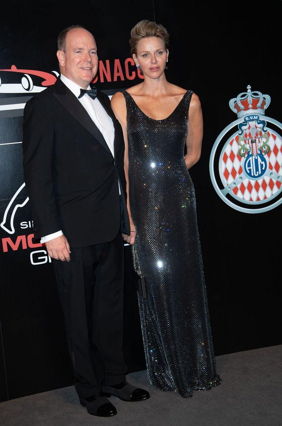 La princesse Charlène de Monaco en Ralph Lauren, le 27 mai 2018