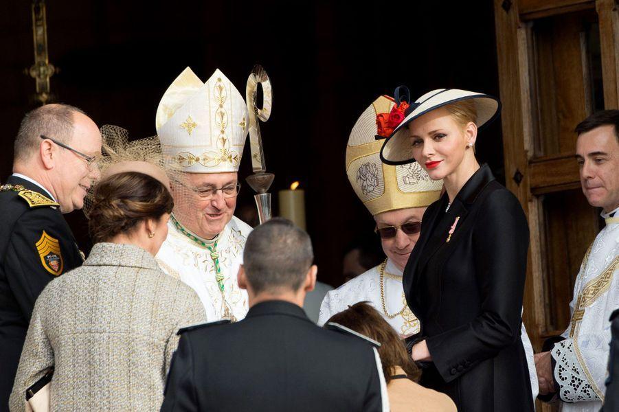 Avant la messe célébrée à l'occasion de la fête nationale de Monaco, samedi