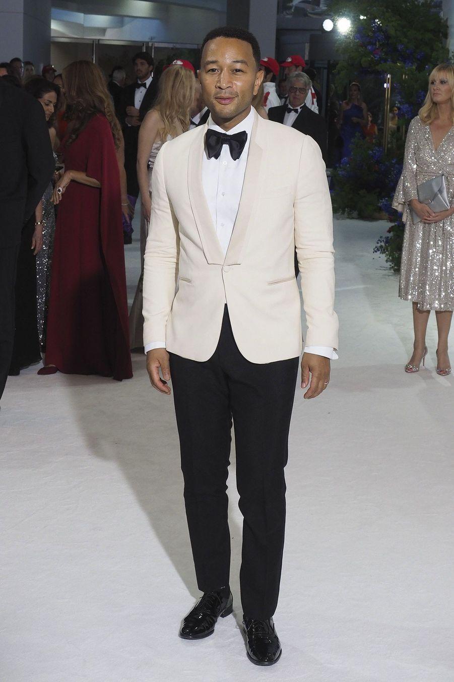 John Legend, lors du 71e Gala de la Croix-Rouge, vendredi à Monaco.
