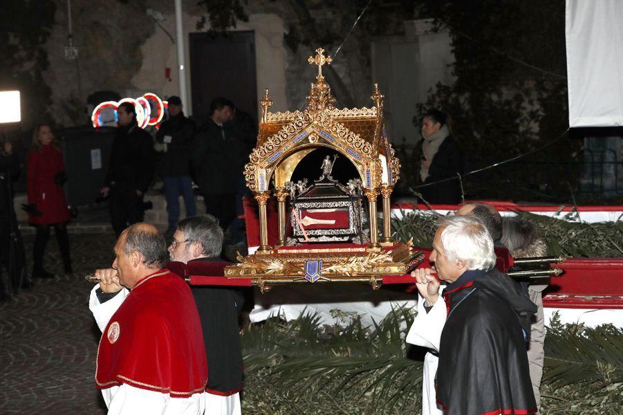 Procession de la Sainte-Dévote à Monaco, le 26 janvier 2017