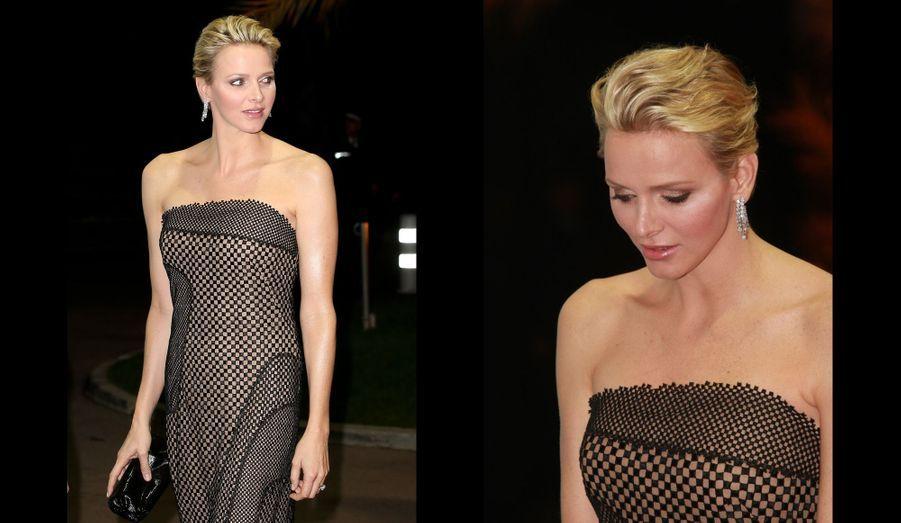 Charlène portait une robe Akris