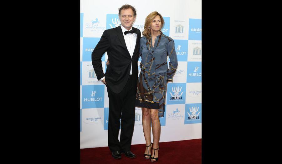 Charles Berling et son épouse