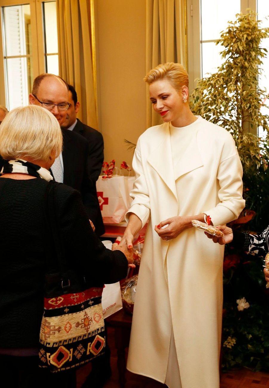 Charlène et Albert fêtent déjà Noël