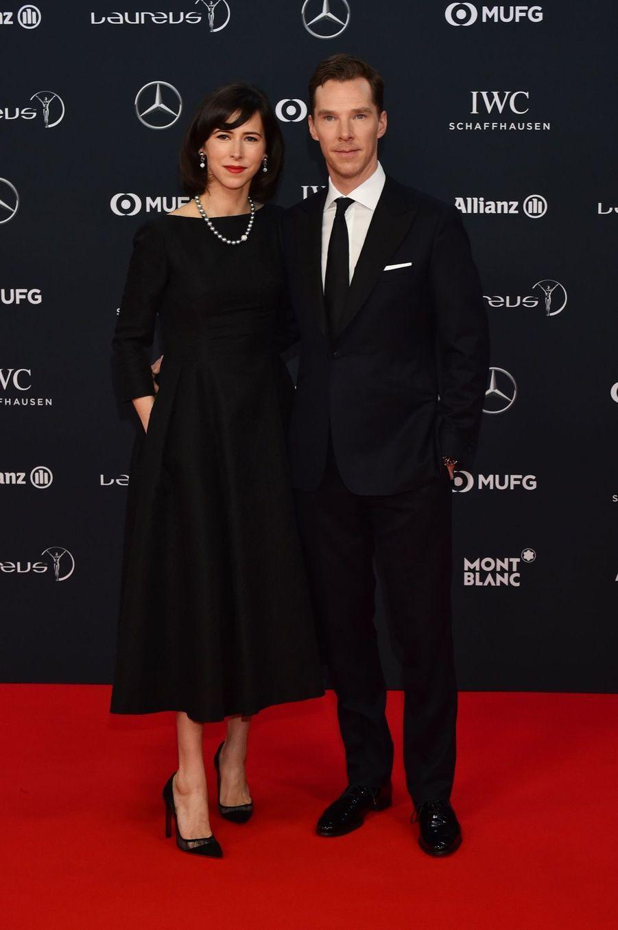 """Benedict Cumberbatch et sa femme Sophie Hunter à la cérémonie des prix """"Laureus du sport"""""""