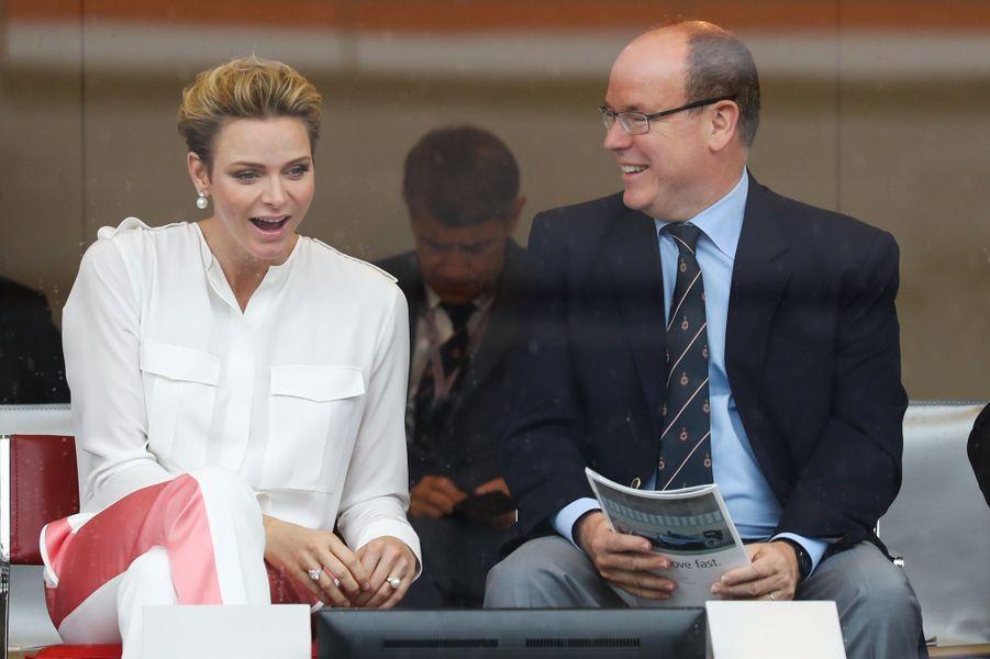 Charlène et Albert, l'amour vainqueur au Grand Prix de Monaco