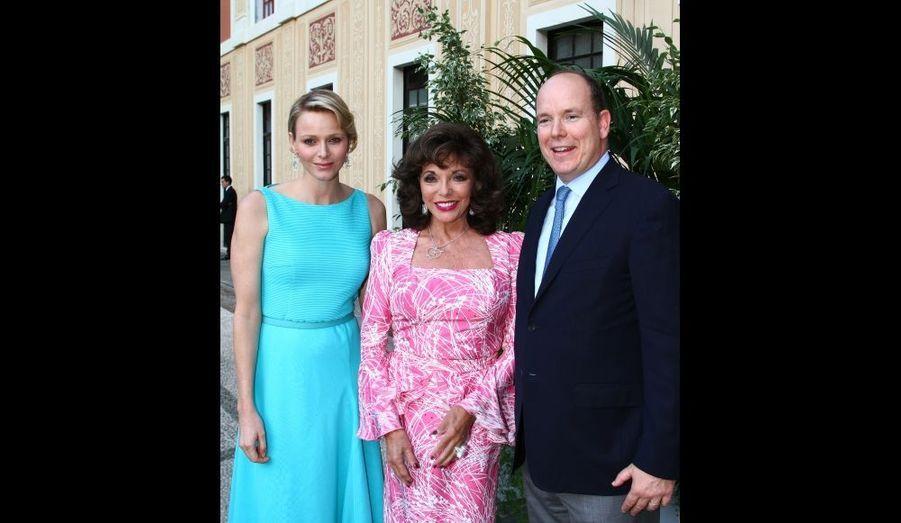 Avec Joan Collins