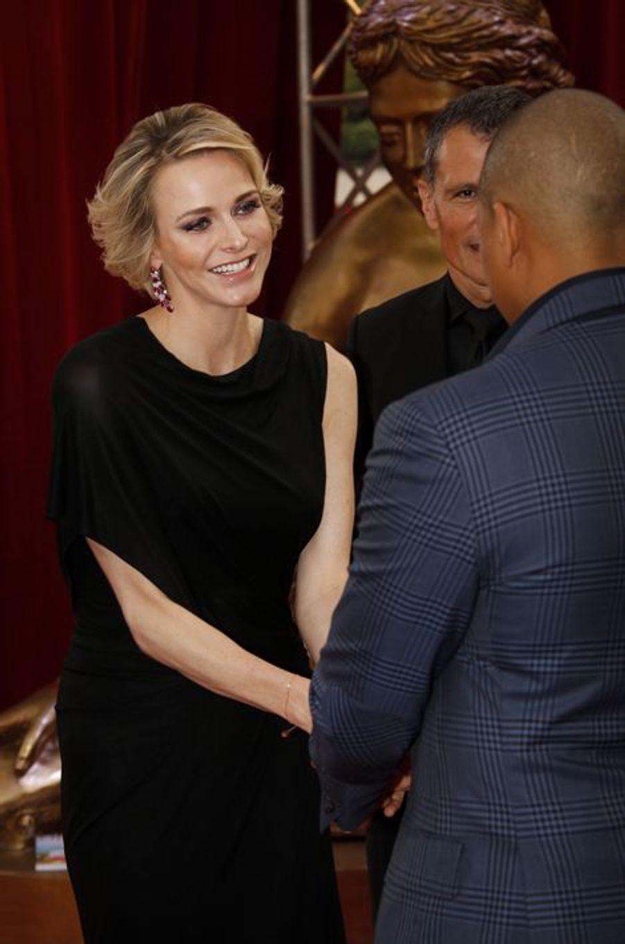 La princesse Charlène de Monaco à l'ouverture du Festival de Télévision de Monte Carlo