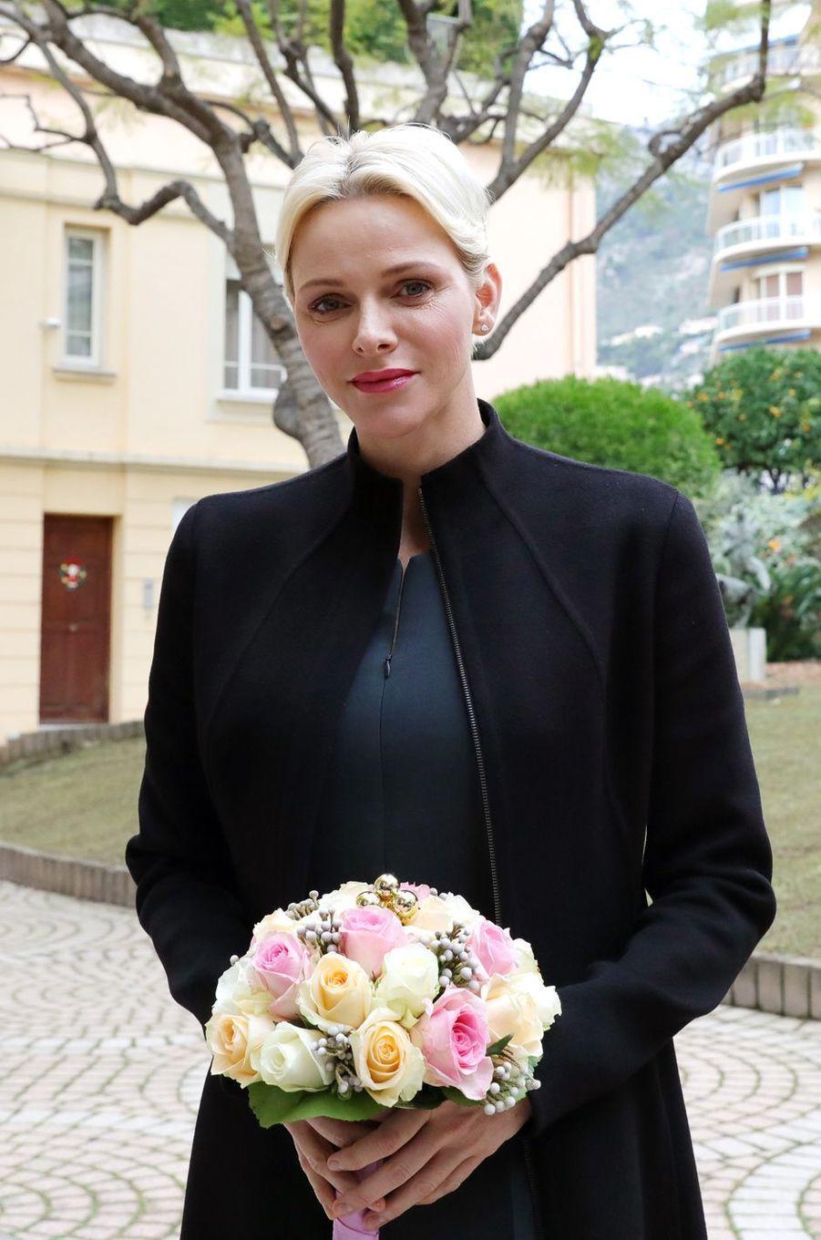 La princesse Charlène de Monaco, le 15 décembre 2017