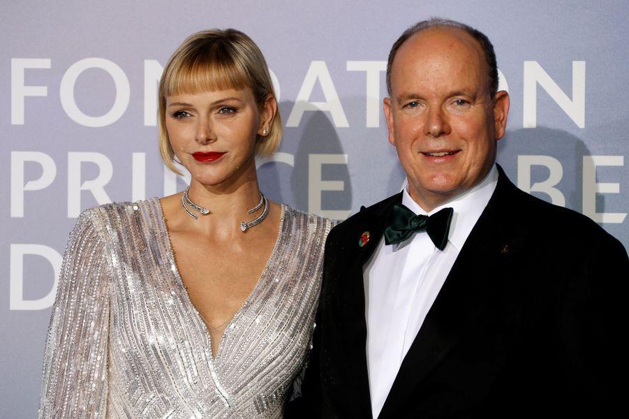 Le prince Albert II et la princesse Charlène de Monaco, à Monaco le 24 septembre 2020