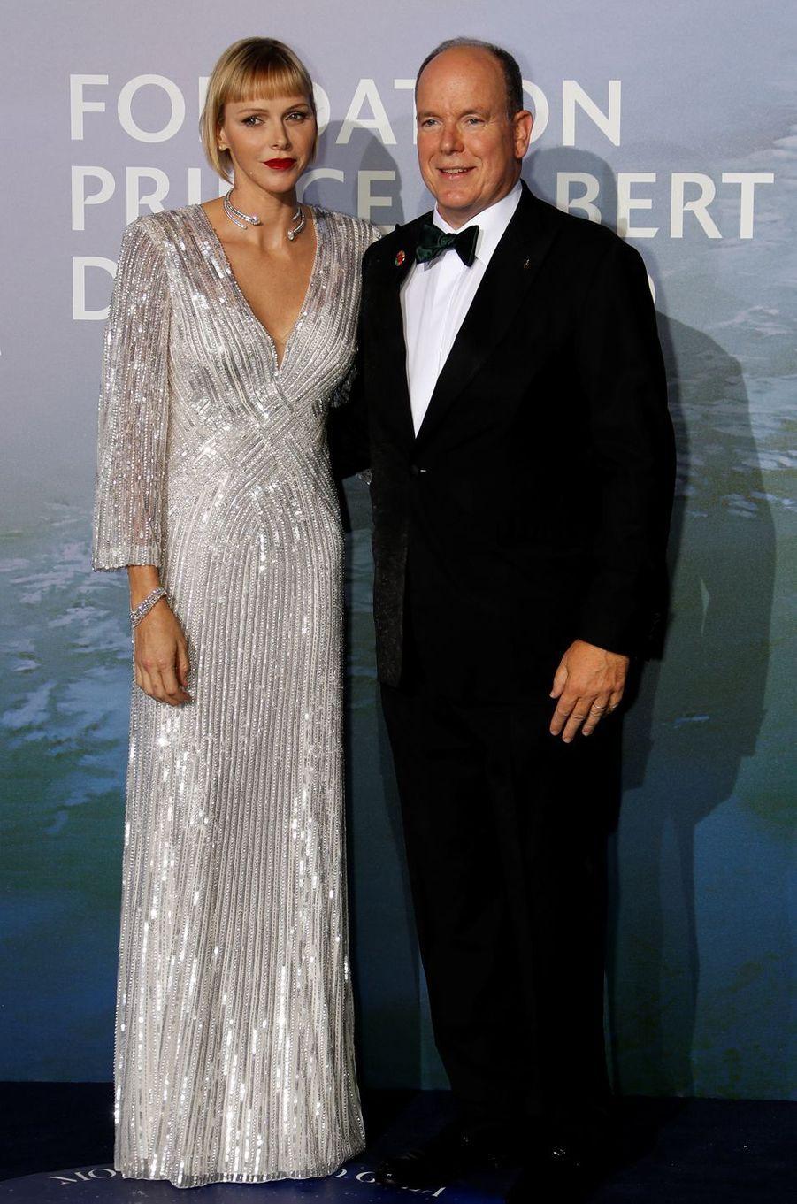 La princesse Charlène et le prince Albert II de Monaco, le 24 septembre 2020 à Monaco