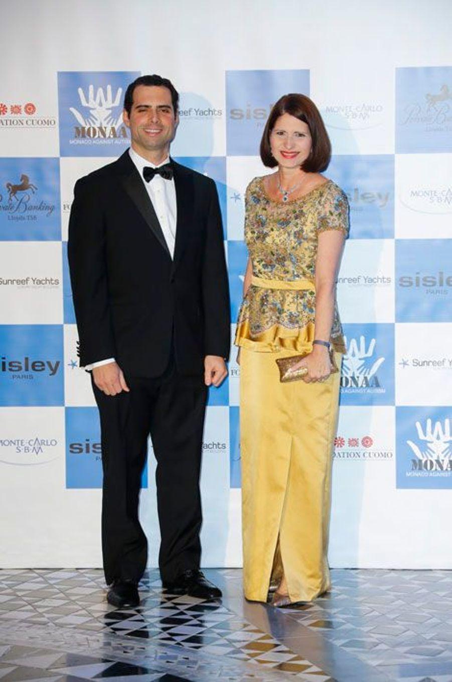 La première dame du Panama, Marta Linares De Martinelli, a pris part au gala avec son fils, Ricardo.
