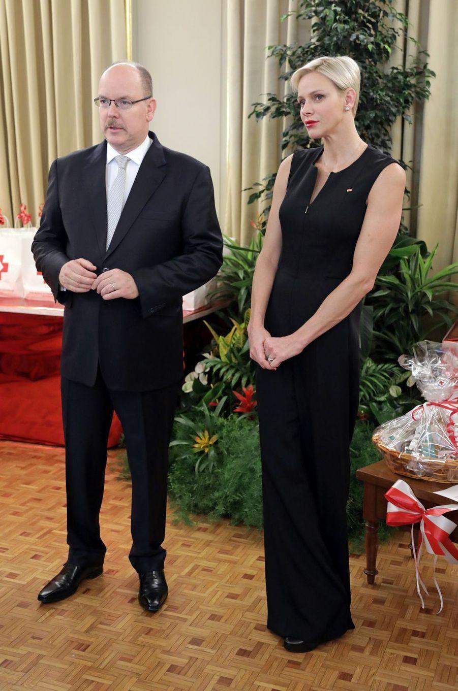 Le prince Albert II de Monaco et la princesse Charlène à Monaco, le 17 novembre 2017