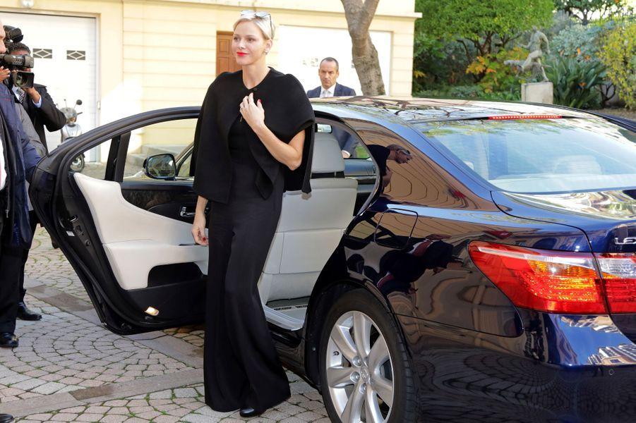 La princesse Charlène de Monaco à Monaco, le 17 novembre 2017